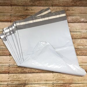 10 White Self Adhesive Poly Mailers